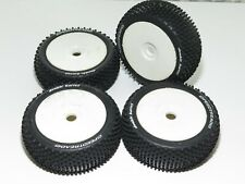 1/8 buggy tires mounted on 17mm hex wheels