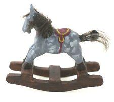 Hand Painted Rocking Horse OOAK Dollhouse Miniature 1:12