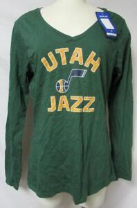 Utah Jazz Women's Size Medium Long Sleeve V-Neck T-Shirt A1 3727