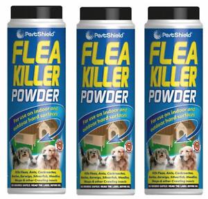 3x 200G FLEA KILLER POWDER Ants Earwigs Household Outdoor Pest Control Treatment