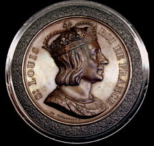 French Creation of the Order of St. Louis & Louis IX Portrait Medal