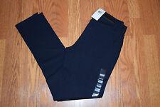 NWT Womens CALVIN KLEIN JEANS Classic Navy Blue Knit Ponte Pants Size 8