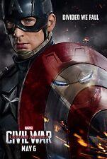 Captain America Civil War Movie Poster (24x36)- Chris Evans, Robert Downey Jr v2