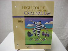 High Court Case Summaries Criminal Law Thomson West Softcover 4 Edition