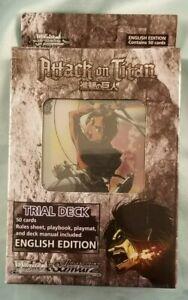 WeiB (Weiss) Schwarz Attack on Titan English Trial Deck *New/Sealed*