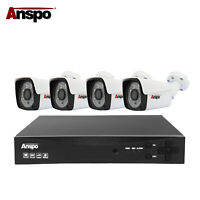 Anspo 4CH 1080N DVR Outdoor CCTV 1920TVL Security Camera System Kit Night Vision