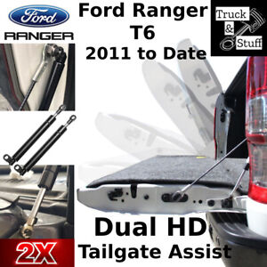 Easy Down Ford Ranger PX T6 T7 T8 Tailgate DUAL DAMPER Gas Strut 2011+ Fits 2021