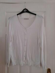 GEORGE White Long Sleeve Lightweight Cardigan  - Size 20