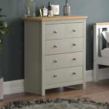 Arlington 3+2 Chest of Drawers Cabinet Storage Modern Bedroom Furniture Grey