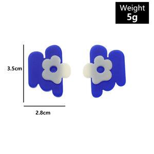 Fashion Acrylic Flower Heart Earrings Drop Geometric Colorful Women Jewelry Gift