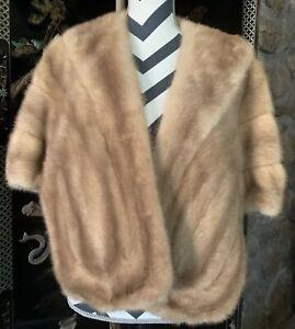 Vintage Furs Real light brown mink fur stole