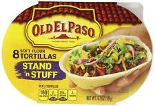 (8) Old El Paso Soft Stand 'n Stuff Flour Tortillas Taco Boats
