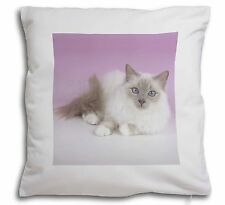 Lilac Birman Cat Soft Velvet Feel Cushion Cover With Inner Pillow, AC-91-CPW