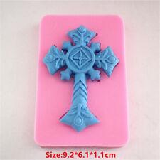 Large Cross Silicone Cake Mould Fondant Sugar Craft Chocolate Decorate Tool