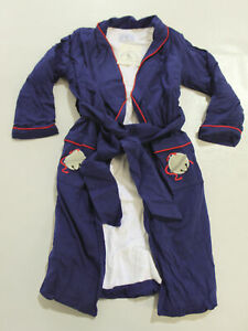 Smock It Like It's Hot Kid's L/S Front Tie Lined Bath Robe RH7 Blue Medium NWT