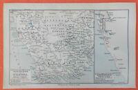 VORKOMMEN DER DIAMANTEN  DES BLUE GROUND IN SÜDAFRIKA Historische Landkarte 1910