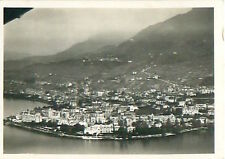 Montreux Schweiz Switzerland Suisse Zeppelin Airship Dirigible CARD IMAGE 30s