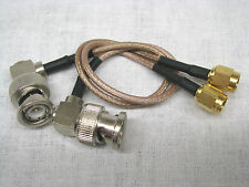 2 Stück Adapterkabel BNC Winkel Stecker / SMA Stecker