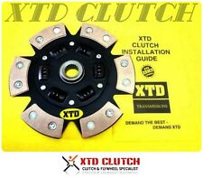 XTD STAGE 3 6 PUCK CERAMIC CLUTCH DISC CONQUEST PROBE 626 RX-7 RX-8 EVO 7 8 9 X