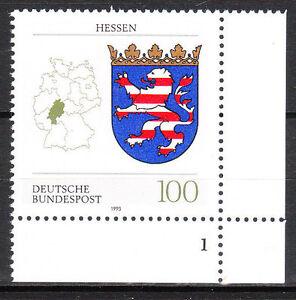 BRD 1993 Mi. Nr. 1660 Postfrisch Eckrand 4 Formnummer 1 TOP!!! (9998)