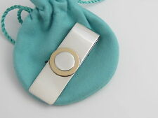 Tiffany & Co Rare Vintage Silver 18K Gold Circle Money Clip Holder!
