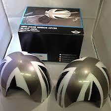 Mirror Cap Cover Set Black Jack Genuine Mini F55 F56 Cooper S Ray 51142354915