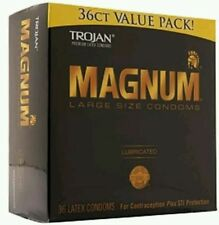 TROJAN Magnum Lubricated Latex Condoms, Large Size 36 ea Damaged box!