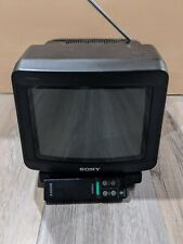 "Sony Trinitron KV-8AD10 8"" CRT Color TV Television With Remote. Retro Gaming TV"