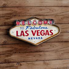 Blechschild Welcome Las Vegas LED Beleuchtung