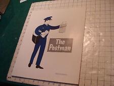 "vintage 1957 community helpers POSTER : THE POSTMAN 16 X 13 1/2"""
