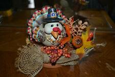 Whimsical Thanksgiving turkey votive candle holder - Fb2.