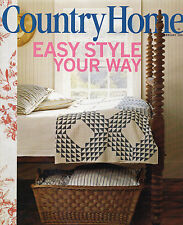 Country Home February 2006 Easy Style Simple Suppers Fabric Roses Antiques