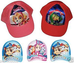 Boys Girls Kids Paw Patrol Chase Skye Summer Sun Baseball Cap Hat age 1- 9 Years