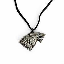 Game of Thrones - Halskette - Haus Stark Wappen Schattenwolf - Noble Collection