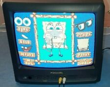 "Panasonic 13"" CRT Color TV With Remote Player Combo Retro Gaming Works Excellent"