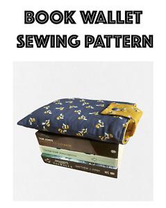 Book Wallet Sewing Pattern, Beginners Sewing Pattern, Easy Sewing Pattern