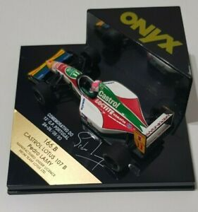 ONYX 1/43 SCALE DIECAST - LOTUS 107B - PEDRO LAMY - LIMITED EDITION - RARE !!