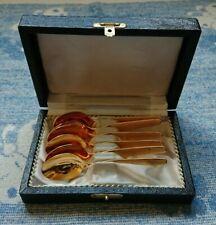 More details for antique vintage retro solingen germany hartvergoldet gold plated spoons set of 6