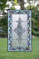 "20"" x 34"" Large Tiffany Style stained glass Beveled window panel"