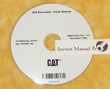 SEBP1226 Caterpillar 225 Excavator Parts Manual Book CD