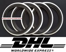Vintage style15'' Black white wall port a walls tyre insert Set of 4.old school