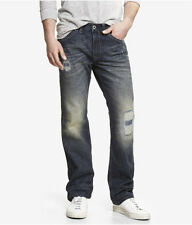 Express Kingston Men's Low Rise Classic Fit Straight Leg Jeans $98 NEW sz 33x30