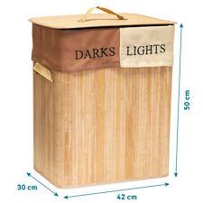 Bambus Wäschekorb 60 Liter Wäschetruhe Wäschebox Wäschesortierer