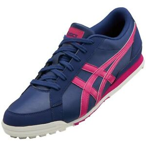 ASICS Golf Shoes GEL PRESHOT CLASSIC 3 Wide 1113A009 Navy Pink With Tracking