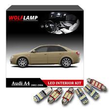 15Pcs Canbus LED Interior Kit Car Light For 2002-2004 Audi A4 B6 White Bulbs