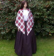 Ladies Victorian peasant mill worker 2pc costume fancy dress Dress Stewart shawl