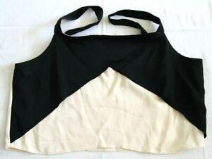 ZARA BASIC Ladies Strapped Two tone Cream & Black Crop Top UK Size XL BNWT