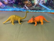 Vintage Imperial Dinosaurs Lot Of 2 Styracosaurus Brachiosaurus