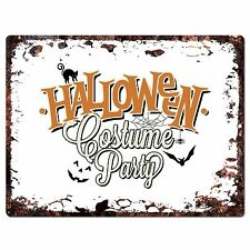 PP1895 HALLOWEEN COSTUME PARTY Plate Chic Sign Home Shop Halloween Decor Gift