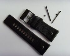 DIESEL Original Ersatzband Lederarmband DZ7193 DZ7262 Uhrband schwarz 28 mm